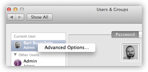 Select Advanced Options …​