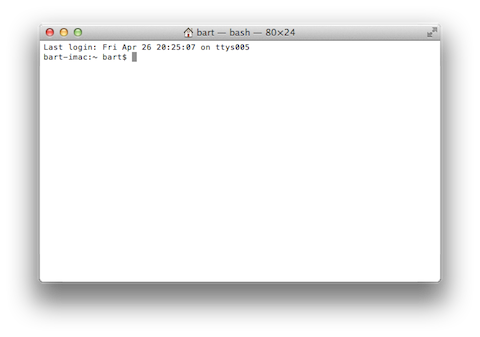 An OS X Terminal Window